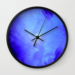 Textures (Blue version) Wall Clock