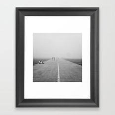 Misty Road Framed Art Print