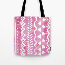Loose boho chic pattern - pink Tote Bag