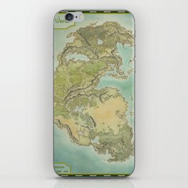 Pangea map iPhone Skin