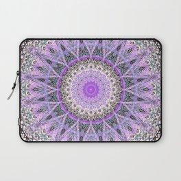 Lovely Lavender Mandala Design Laptop Sleeve
