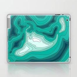 ocean dephts map Laptop & iPad Skin