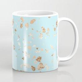 Blue Gold Modern Terrazzo Coffee Mug