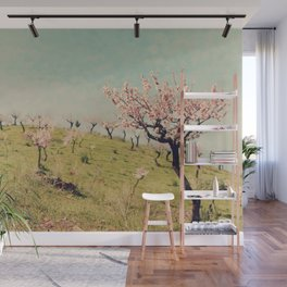 Almond Blossom Hill Wall Mural