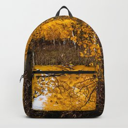 In the Name of Fall - Aspen Trees on Autumn Day in Wyoming Backpack