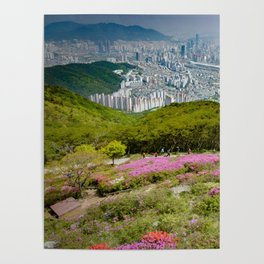 Summer Mountain View in Busan Poster