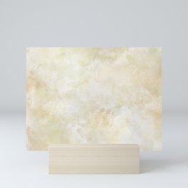 Grunge beige watercolor marble background Mini Art Print