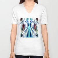 pain V-neck T-shirts featuring Pain by Robin Curtiss