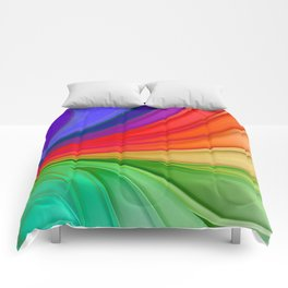 Abstract Rainbow Background Comforters