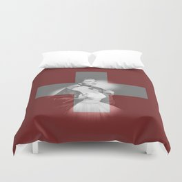 ESC Switzerland 1956 Duvet Cover
