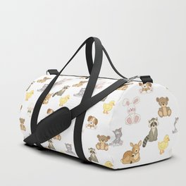 Cute Woodland Farm Baby Animals Nursery Duffle Bag