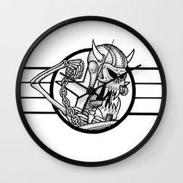 Mutant Meatball  Wall Clock