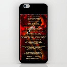 Jocelyn The Ripper iPhone Skin