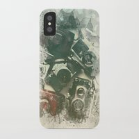 cameras iPhone & iPod Cases featuring Old Cameras by Nechifor Ionut