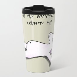Exhausted Unicorn Travel Mug