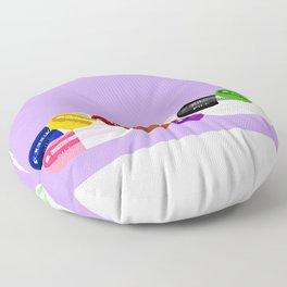 Pill Popper Party Lavender Floor Pillow