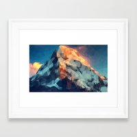 low poly Framed Art Prints featuring Mountain low poly by Li9z