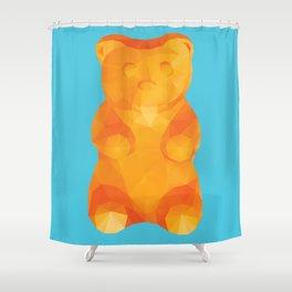 Gummy Bear Polygon Art Shower Curtain
