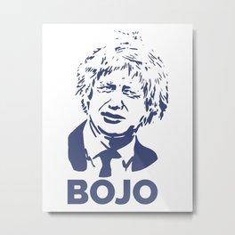 Boris Johnson-Navy Metal Print