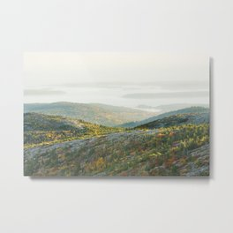 Cadillac Mountain in Fall, Acadia National Park on The Coast Of Maine Metal Print