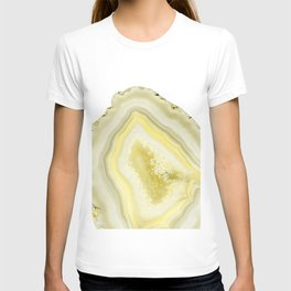 Lemon Twist Agate Dream #1 #gem #decor #art #society6 T-shirt