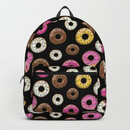 Donut Pattern - Black Backpack