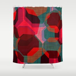 RETRO FESTIVE Shower Curtain