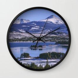 keystone united states lake mountains winter Wall Clock