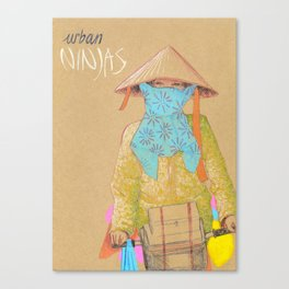 Urban Ninjas Canvas Print
