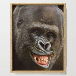 Smiling Gorilla (^_^) Serving Tray