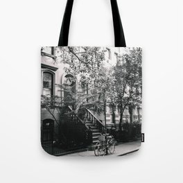 New York City - West Village Street and Bicycles Tote Bag