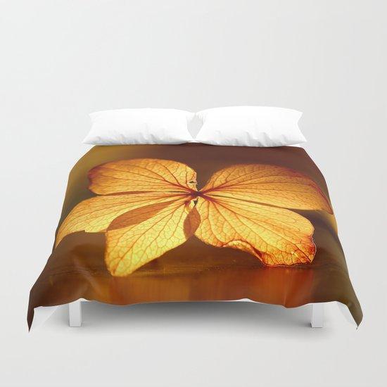 Fragile Hydrangea Flower Duvet Cover