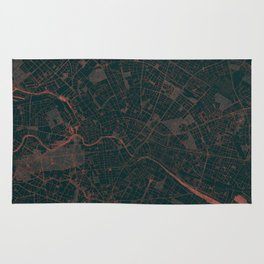 Berlin Map Red Rug