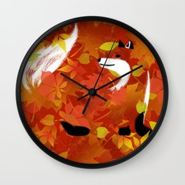 Fox In The Forest Wall Clock