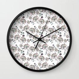 Pastel floral pattern Wall Clock
