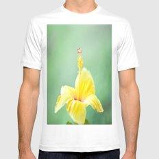 Yellow Hibiscus 2 Mens Fitted Tee MEDIUM White