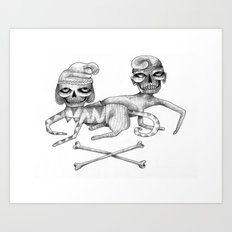 Bone Couple Art Print