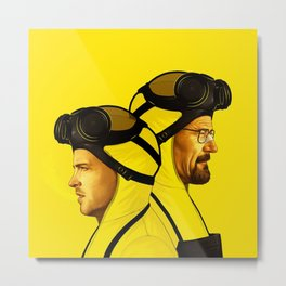 HEISENBERG TWIN YELLOW Metal Print