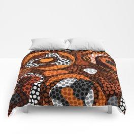 Warped Boho Pattern Comforters
