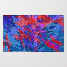 exploding coral Rug