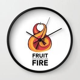 #7 Fruit Descended like fire Wall Clock