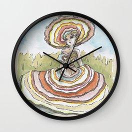 Empire of Mushrooms: Trametes versicolor Wall Clock