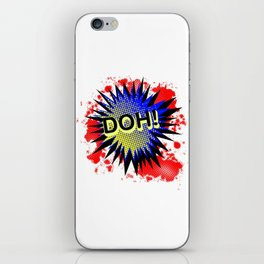 Doh Comic Exclamation iPhone Skin