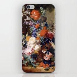 "Jan van Huysum ""Still life"" iPhone Skin"