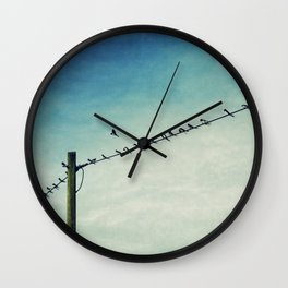 stepping out of line Wall Clock