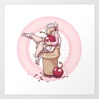 With A Cherry On Top! Art Print