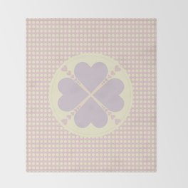 Cute heart Throw Blanket