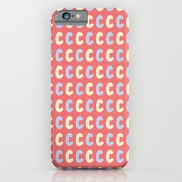 Lowercase Letter C Pattern iPhone Case