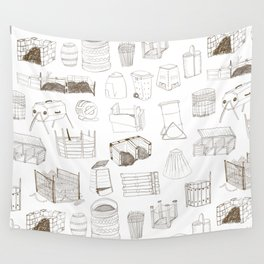 Cover, Contain, COMPOST- 1 of 3 Wall Tapestry