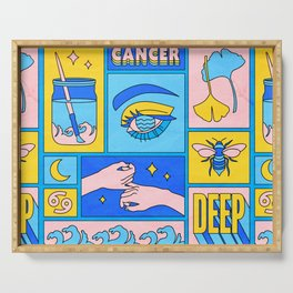 Cancer Serving Tray